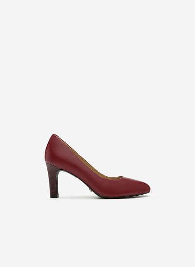Giày Cao Gót BMT 0435 - Màu Đỏ Bầm