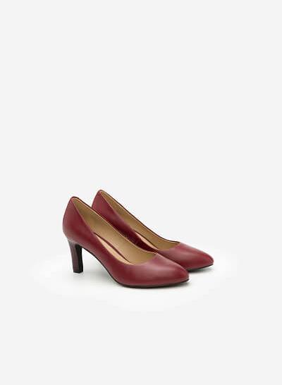 Giày Cao Gót BMT 0435 - Màu Đỏ Bầm - vascara