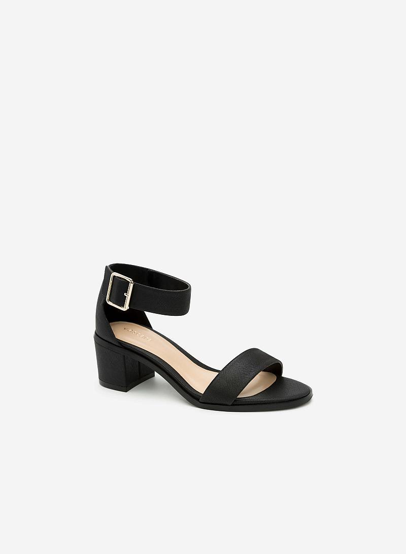 Giày Sandal Gót Vuông SDN 0581 - Màu Đen - VASCARA