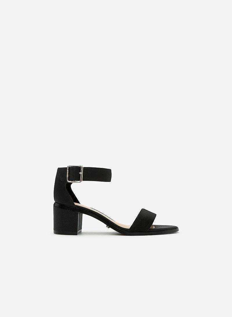 Giày Sandal Gót Vuông SDN 0581 - Màu Đen