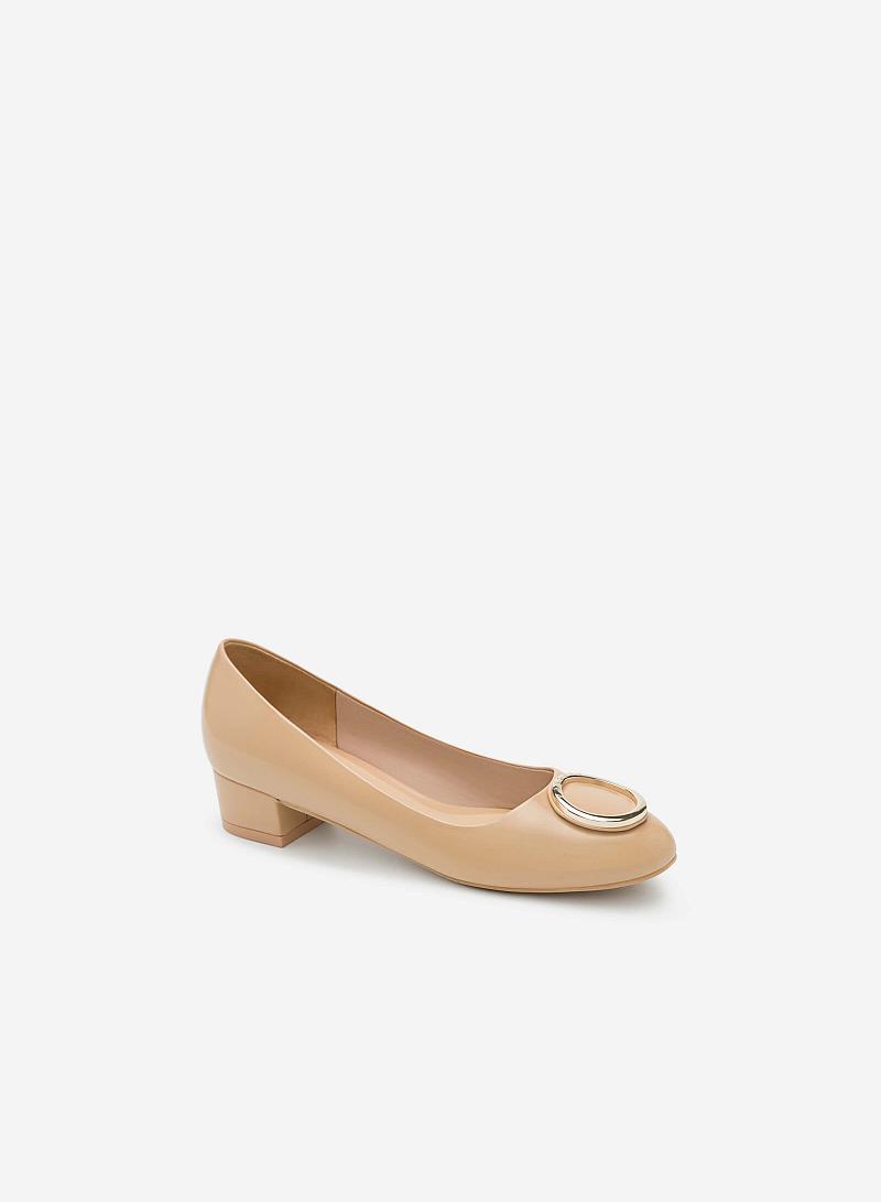 Giày Bít Gót Vuông BMT 0443 - Màu Be - vascara