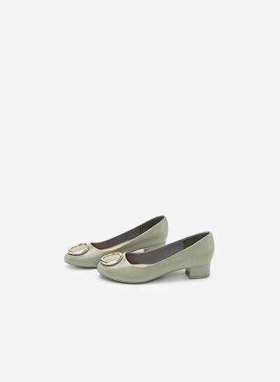 Giày Bít Gót Vuông BMT 0443 - Màu Xám - VASCARA