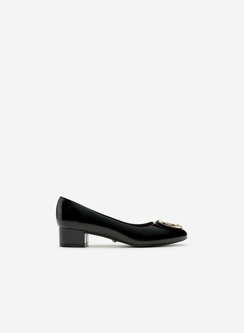 Giày Bít Gót Vuông BMT 0443 - Màu Đen - vascara