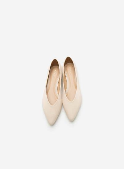 Giày Búp Bê GBB 0396 - Màu Kem - VASCARA