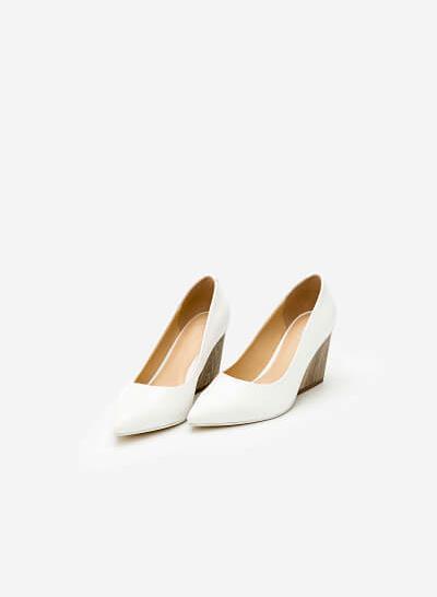 Giày Cao Gót BMN 0259 - Màu Trắng - VASCARA