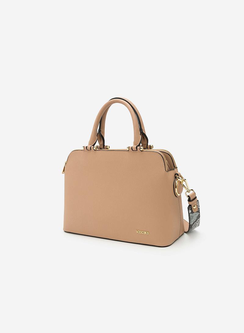 Túi xách tay SAT 0153 - Màu Be - vascara