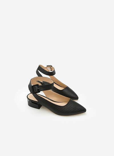 Giày Bít Gót Vuông BMN 0254 - Màu Đen - VASCARA