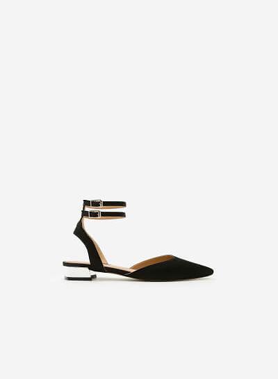 Giày Bít Gót Vuông BMN 0285 - Màu Đen - vascara