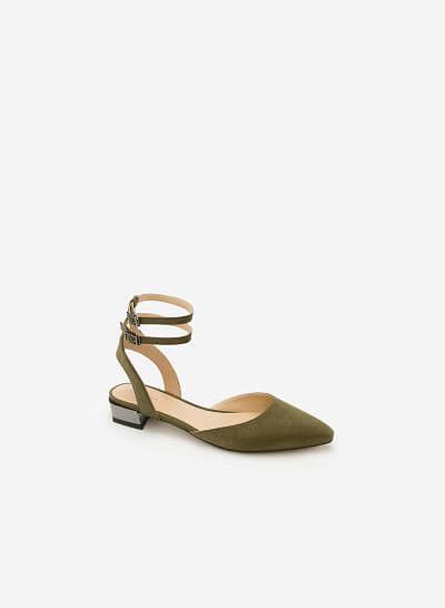 Giày Bít Gót Vuông BMN 0285 - Màu Xanh Lá Đậm - VASCARA