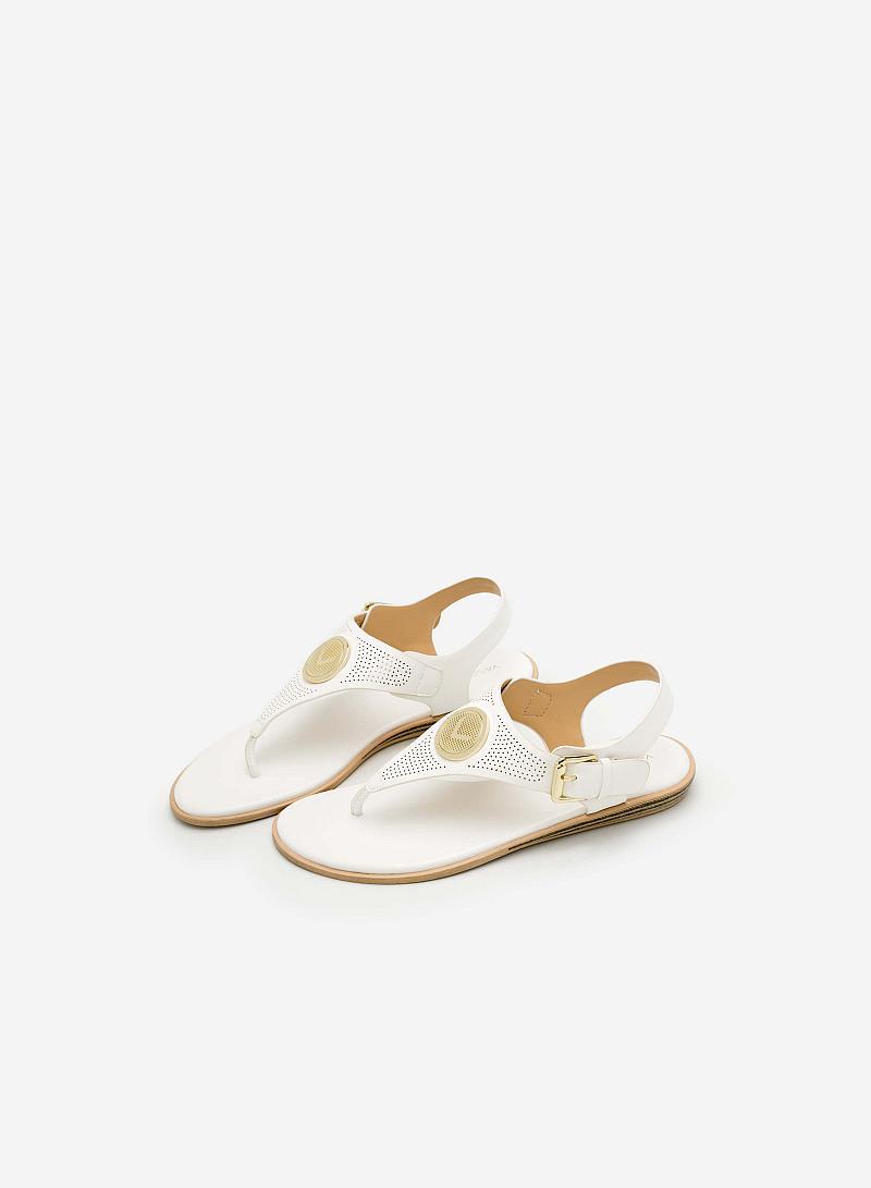 Giày Sandal Đế Bệt SDK 0275 - Màu Trắng - vascara