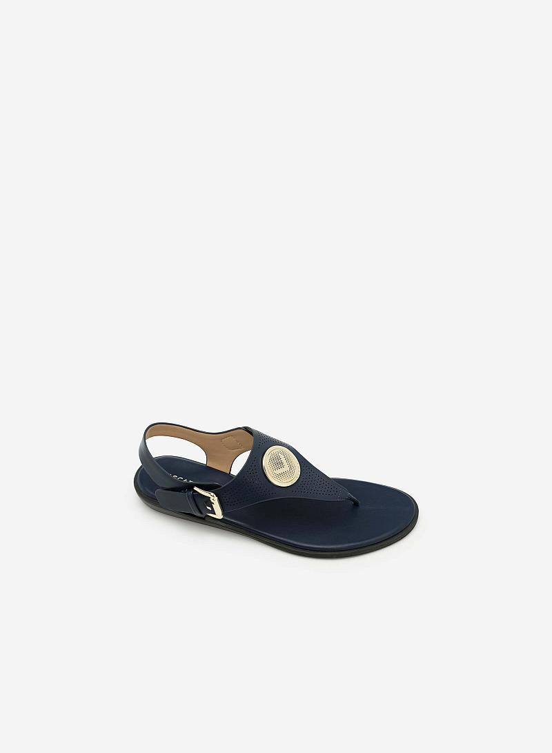 Giày Sandal Đế Bệt SDK 0275 - Màu Xanh Navy - VASCARA