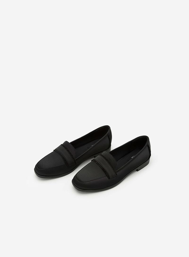 Giày Lười Satin -  Màu Đen - MOI 0095 - VASCARA