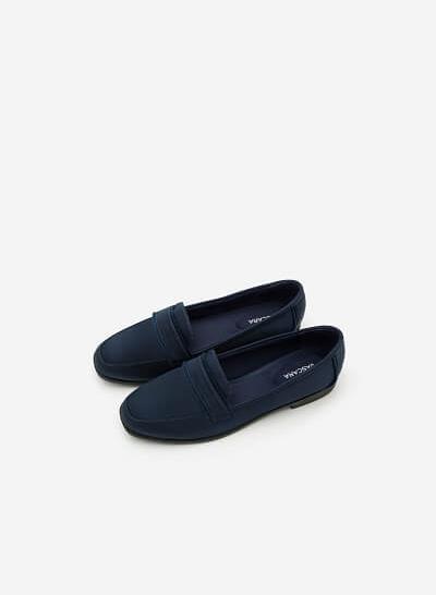 Giày Lười Satin - Màu Xanh Navy - MOI 0095 - vascara.com