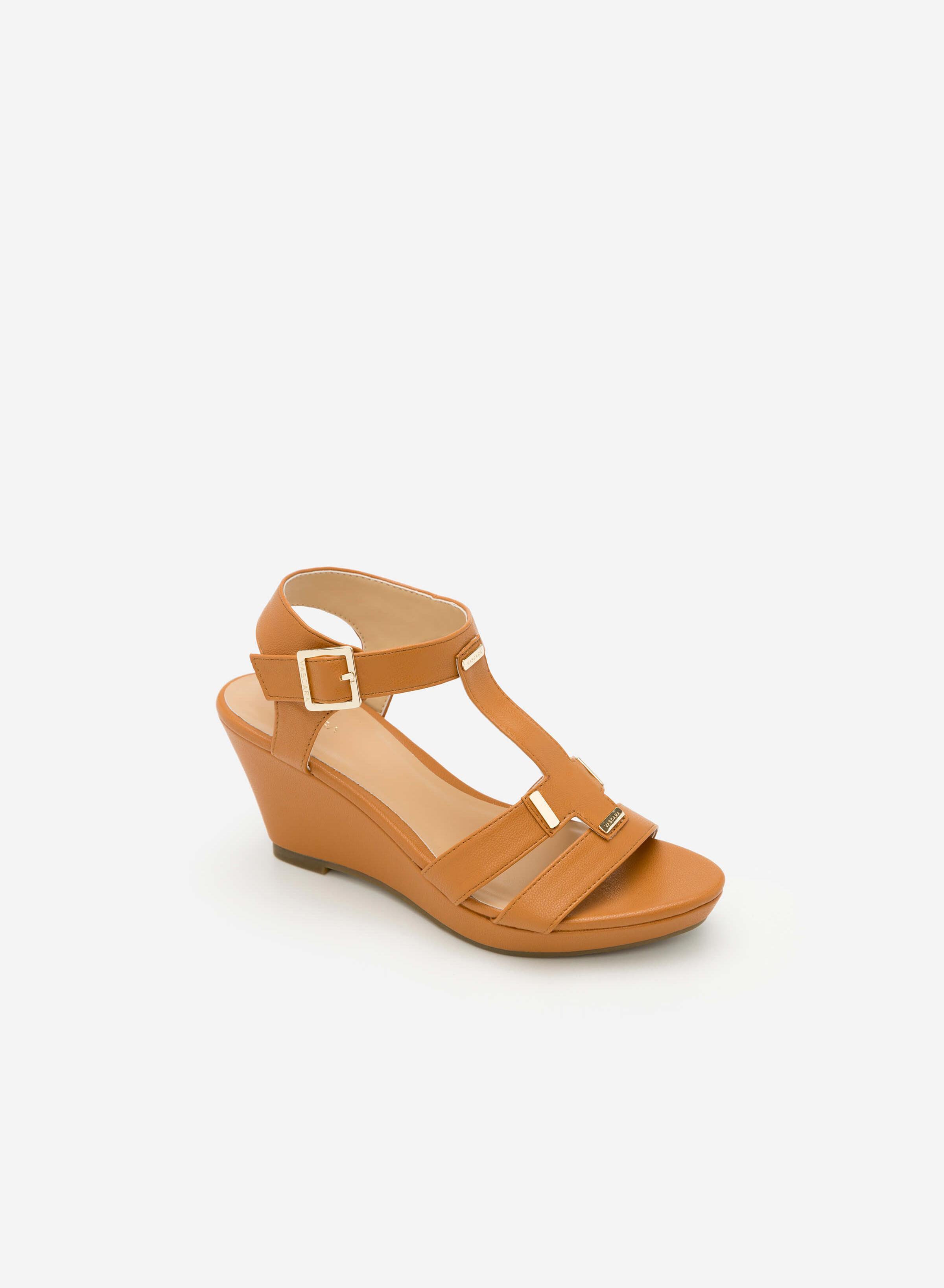 Giày Sandal Cao Đế Xuồng - Màu Nâu - SDX 0402 Vascara