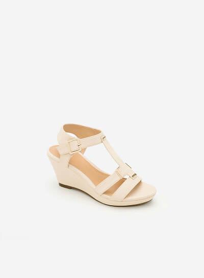 Xem sản phẩm Giày Sandal Cao Đế Xuồng -  Màu Kem - SDX 0402