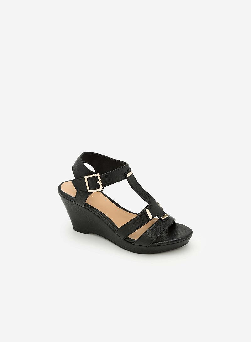 Giày Sandal Cao Đế Xuồng -  Màu Đen - SDX 0402 - vascara