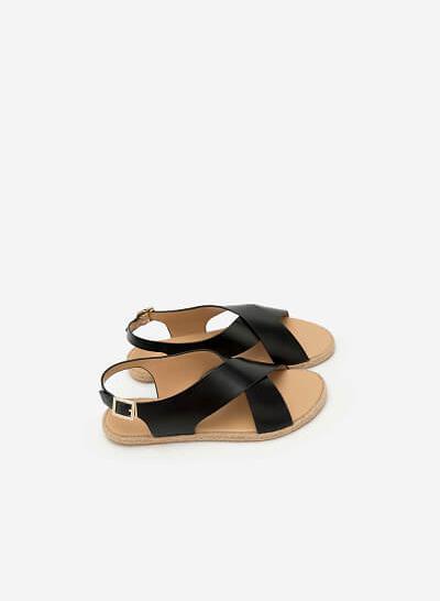 Giày Sandal Đế Bệt SDK 0279 - Màu Đen - vascara