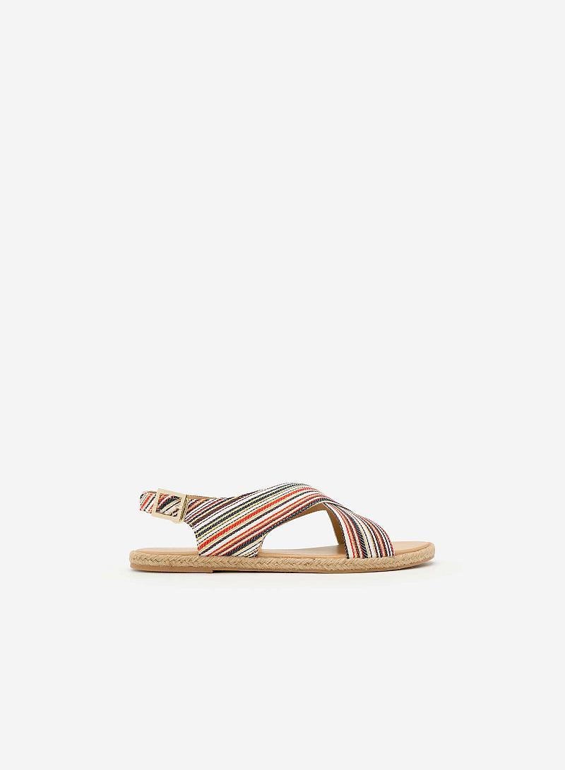 Giày Sandal Đế Bệt SDK 0279 - Màu Hoa Văn - vascara