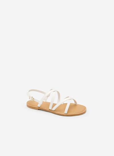 Giày Sandal Đế Bệt SDK 0281 - Màu Trắng - vascara.com