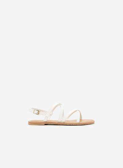 Giày Sandal Đế Bệt SDK 0281 - Màu Trắng - vascara