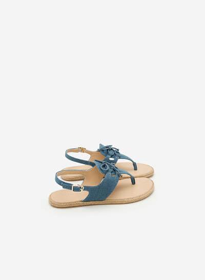 Giày Sandal Đế Bệt SDK 0278 - Màu Xanh Dương - VASCARA