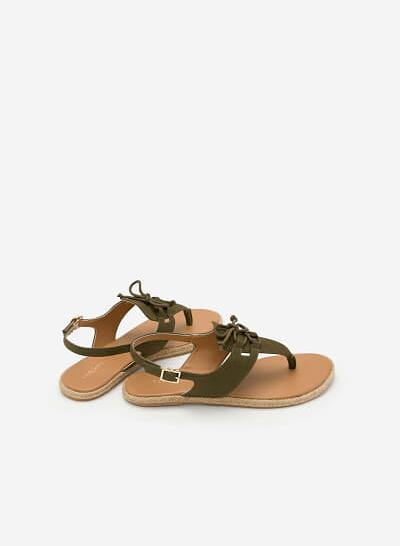 Giày Sandal Đế Bệt SDK 0278 - Màu Xanh Lá Đậm - VASCARA