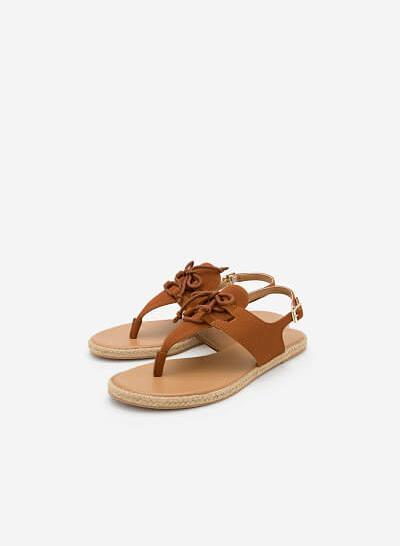 Giày Sandal Đế Bệt SDK 0278 - Màu Nâu - VASCARA