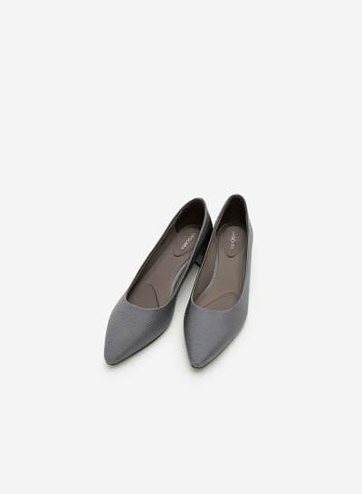 Giày Bít Gót Vuông BMN 0281 - Màu Xám - VASCARA