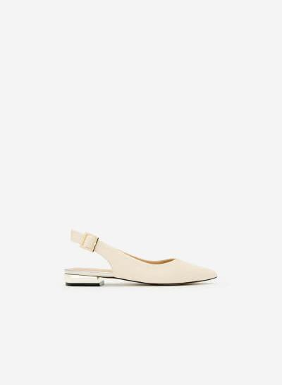 Giày Bít Gót Vuông BMN 0274 - Màu Kem - VASCARA