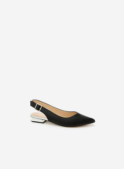 Giày Bít Gót Vuông BMN 0274 - Màu Đen