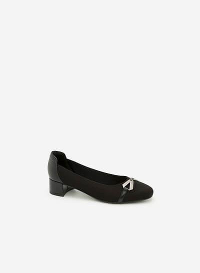 Giày Bít Gót Vuông BMT 0451 - Màu Đen