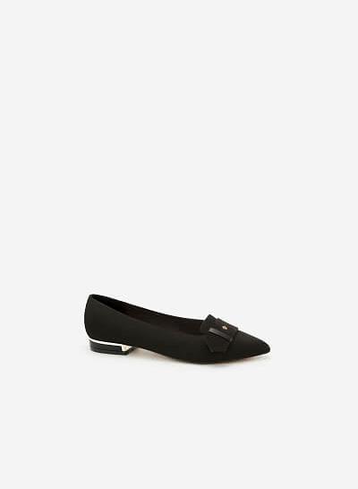 Giày Bít Gót Vuông BMN 0294 - Màu Đen