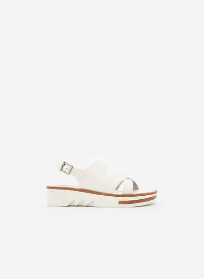 Giày Sandal Đế Xuồng SDX 0399 - Màu Trắng - VASCARA