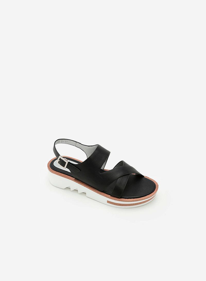 Giày Sandal Đế Xuồng SDX 0399 - Màu Đen - vascara
