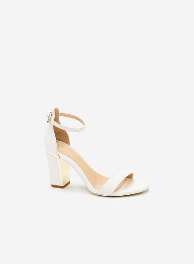 Giày Cao Gót SDN 0586 - Màu Trắng