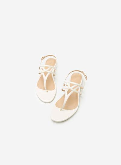Giày Sandal Đế Bệt SDK 0264 - Màu Trắng - VASCARA