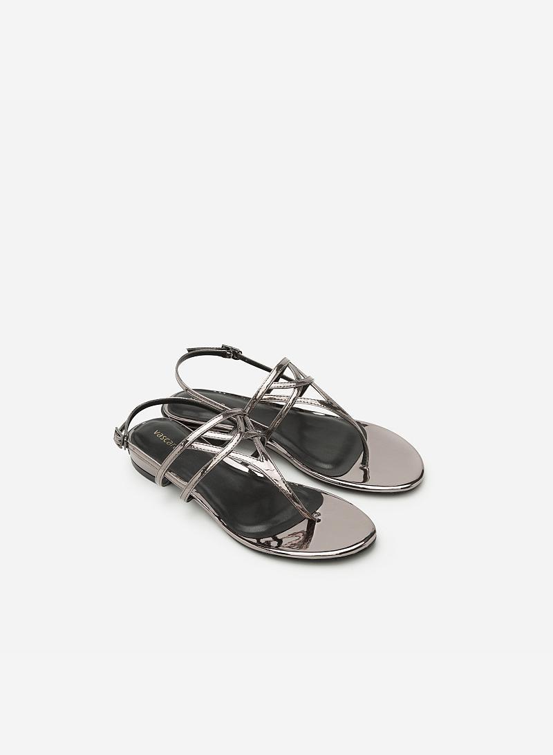 Giày Sandal Đế Bệt SDK 0264 - Màu Xám Khói - VASCARA