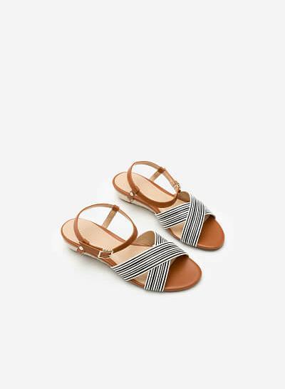 Giày Sandal Đế Xuồng SDX 0392 - Màu Nâu - vascara