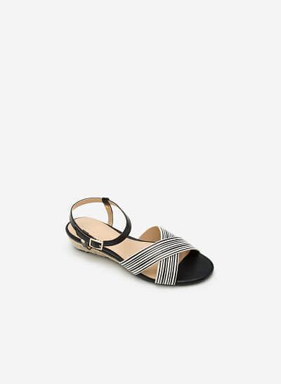 Giày Sandal Đế Xuồng SDX 0392 - Màu Đen - VASCARA