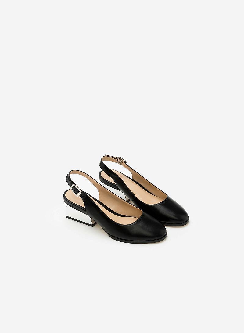 Giày Bít Gót Vuông BMT 0441 - Màu Đen - vascara