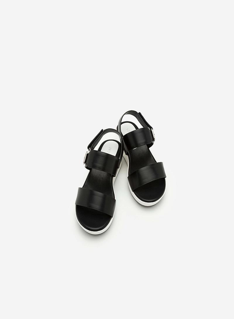 Giày Sandal Đế Xuồng SDX 0393 - Màu Đen - vascara