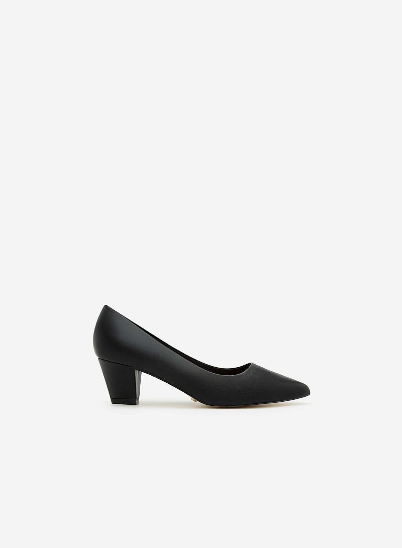 Giày Bít Gót Vuông BMN 0277 - Màu Đen - vascara