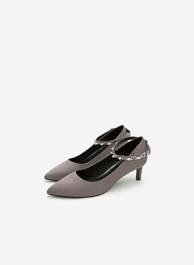 Giày Bít Gót Nhọn BMN 0270 - Màu Xám - VASCARA