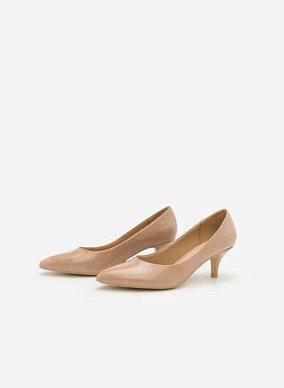 Giày Bít Gót Nhọn BMN 0266 - Màu Be - vascara