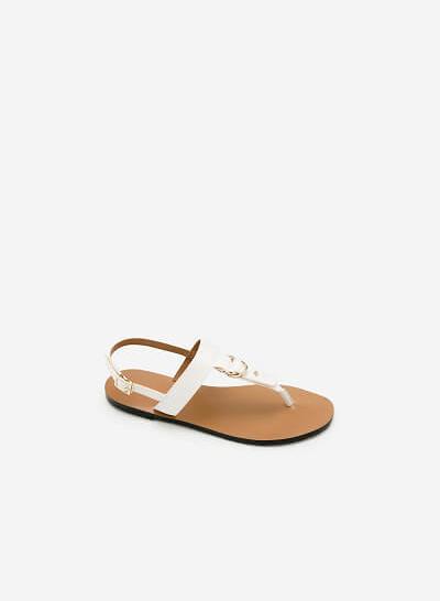 Giày Sandal Đế Bệt SDK 0276 - Màu Trắng - vascara.com