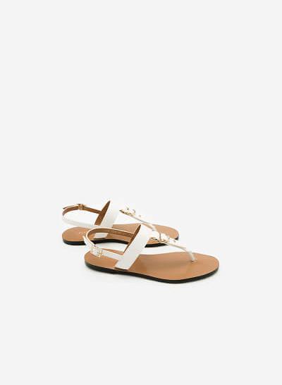 Giày Sandal Đế Bệt SDK 0276 - Màu Trắng - VASCARA
