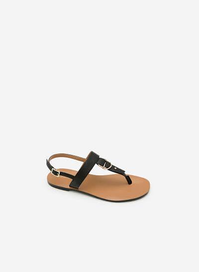 Giày Sandal Đế Bệt SDK 0276 - Màu Đen - vascara.com