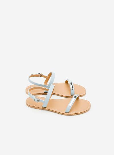 Giày Sandal Đế Bệt SDK 0267 - Màu Xanh Da Trời - vascara