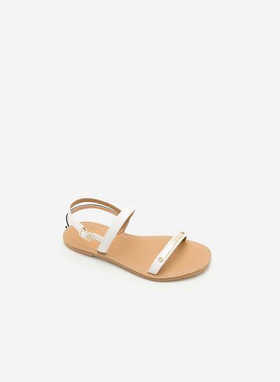 Giày Sandal Đế Bệt SDK 0267 - Màu Trắng - vascara.com