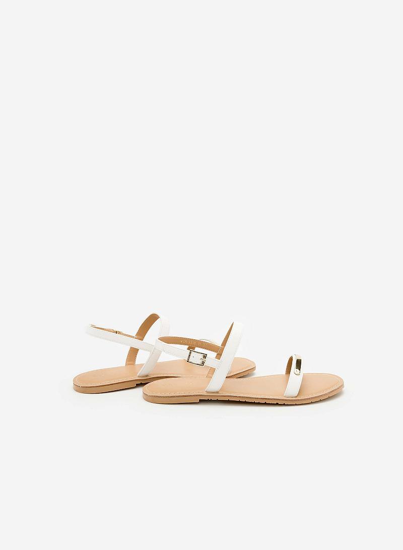 Giày Sandal Đế Bệt SDK 0267 - Màu Trắng - vascara
